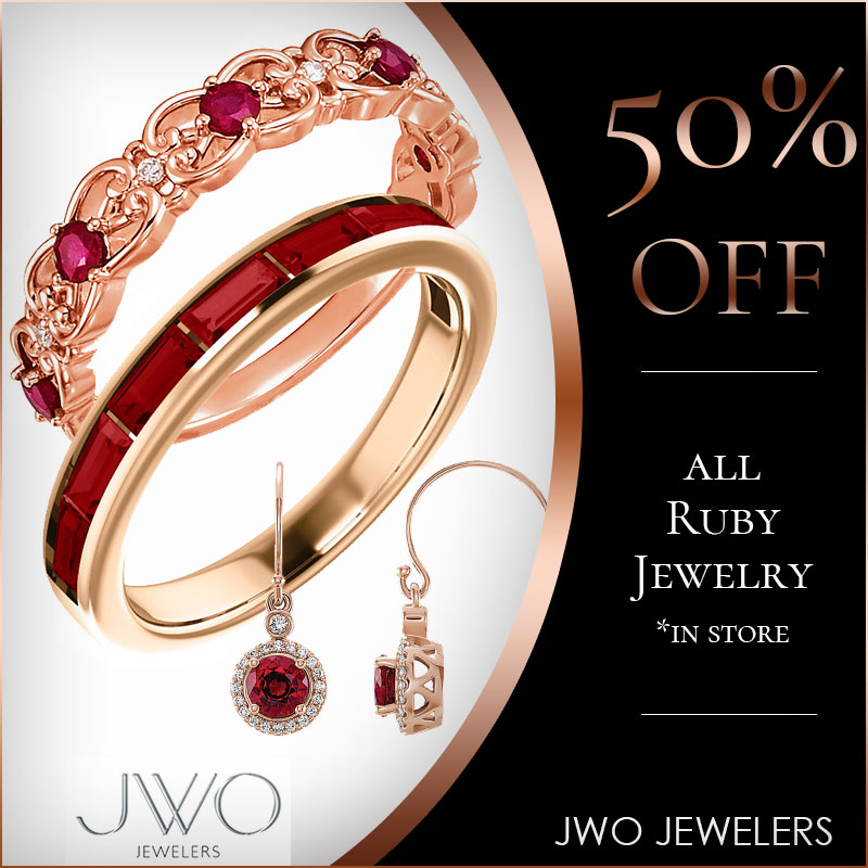 50% Off All Ruby Jewelry
