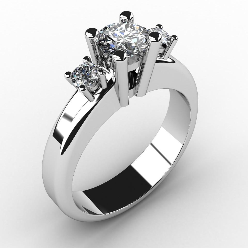 3 Stone Diamond set in platinum
