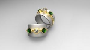 Custom Diamond & Emerald Band makes an elegant jewelry gift
