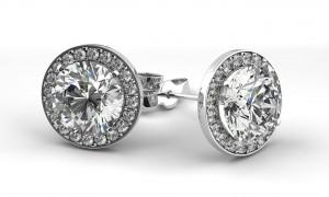diamond earrings, earrings, diamonds, jewelry, JWO, custom design
