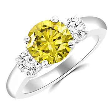 fancy yellow diamond for april birthstone