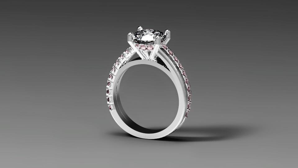Get engaged and come to us for your Custom Design Diamond Engagement Ring