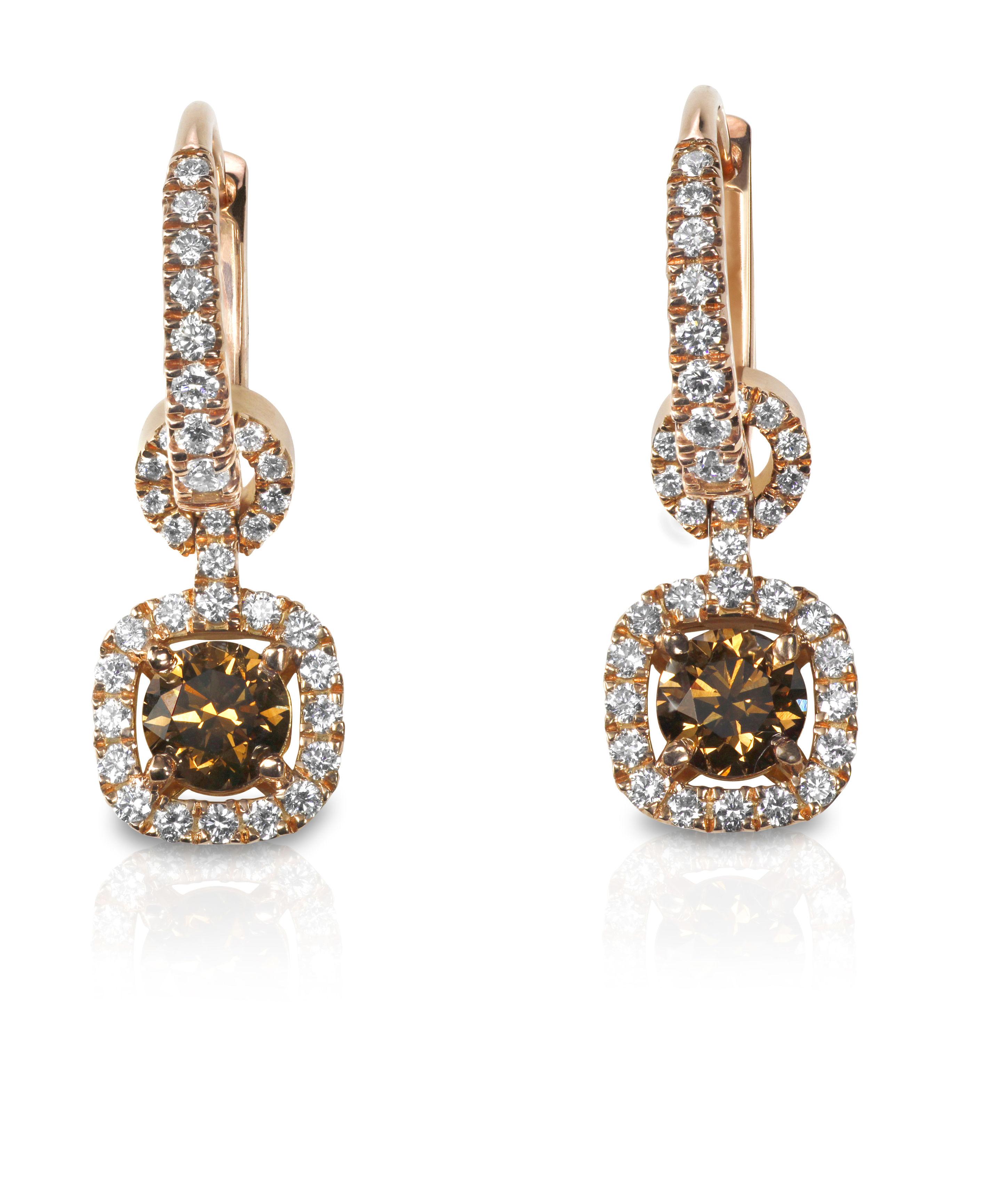 Chocolate Diamond Delight Earrings Diamond Earrings Earrings ...