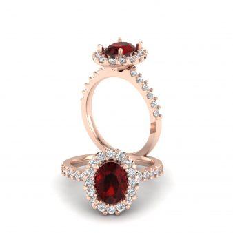 fiery garnet ring