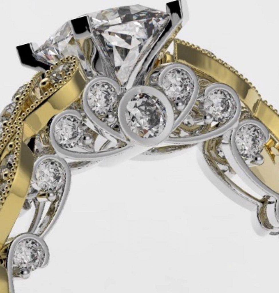 custom engagement jewelry design by JWO