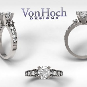 Von Hoch Designs 14k White Gold Diamond Engagement Ring